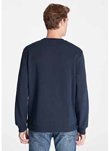 Mavi Baskılı Sweatshirt Mavi